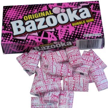 Bazooka Bubble Gum Box 113gr, USA Import  per doosje