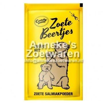 Süße Bären schwarz / weiß, Lakritz-Pulver  per zakje
