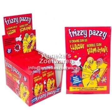 Knetter kauwgum Frizzy Pazzy, Aardbei  per zakje