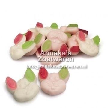 Flappies, Kaninchen Köpfe  per 100 gram