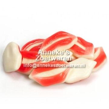 Lippen, Rot-Weiß  per 100 gram