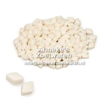 Pepermunt Ruitjes Wit  per 200 gram