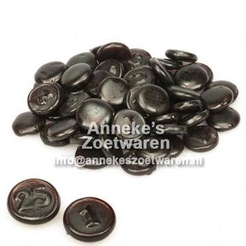 Haribo, Zwart Geld drop  per 100 gram