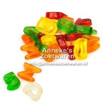Buchstaben, weingummi  per 100 gram