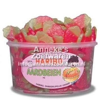 Aardbeien, Fruitgum aardbeien  per stuk