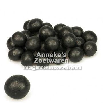 Salmiakrondo's of salmiakballen zwart  per 100 gram