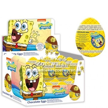 Sponge Bob Chocolate Eggs 20 gr.  per stuk