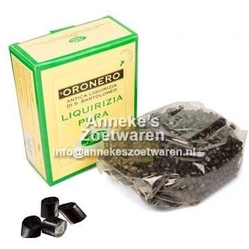 Laurierdrop (de echte) Tonnetjes (Tronchetto)  per 100 gram