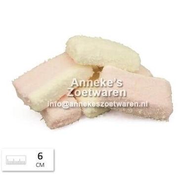 Kokos Marshmallows rosa -weiß  per 100 gram