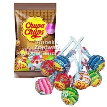 Frucht Lutscher von Chupa Chups 100 + 20 Stück frei  per zakje