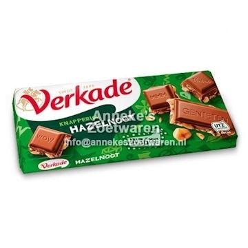 Verkade Schokoladetafel 75g, Haselnuss milch  per reep