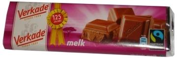 Verkade reep Fairtrade 111gr, melk  per reep