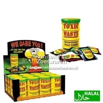 Toxic Waste Gelbe Saure Bonbons 42 Gr.  per stuk