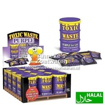 Toxic Waste Sour Candy Drum Purple 42 gr.