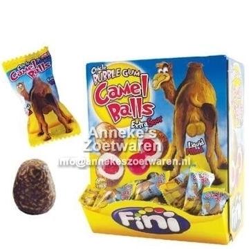 Fini, Gum, Camel Balls Sour Gum VPS  per stuk