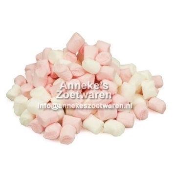 Haribo, Mini Spekjes Roze en Wit  per 100 gram
