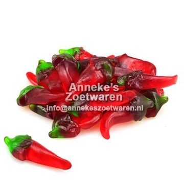 Hot Peppers, Hete Pepers, Piment  per 100 gram