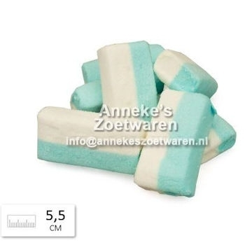 Blokspek, Blauw en Wit, Lards  per 100 gram