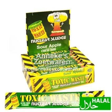 Toxic Waste Sour Chew Bar Apple 20 gr