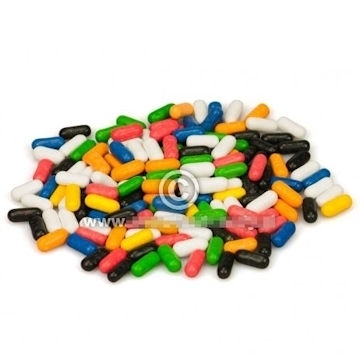 Farben-Lakritz. Süße Lakritz-Sticks  per 100 gram