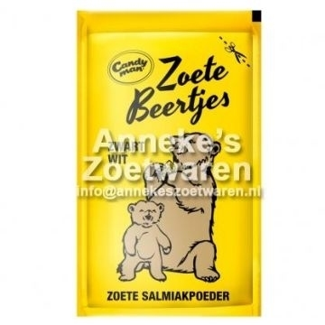 Süße Bären schwarz / weiß, Lakritz-Pulver
