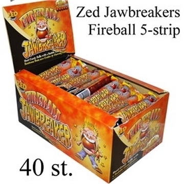 Jawbreaker 5-strip, Fireball heet (oranje)  per strip