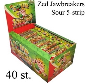 Jawbreaker 5-strip, Sour, Zuur (groen)  per strip