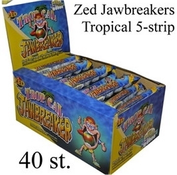 Jawbreaker 5-strip, Tropical Zoet (blauw)  per strip