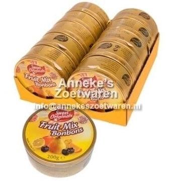 Blikje Fruit Mix Bonbons ( zuurtjes ) 200gr