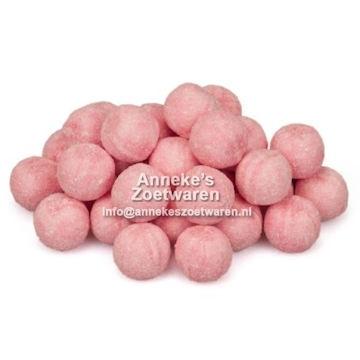 Kugeln, säure Erdbeer mit Brause  per 100 gram