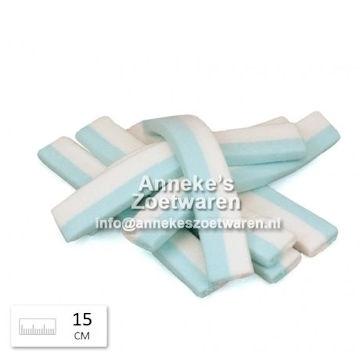 Blokspek lang, blauw en wit