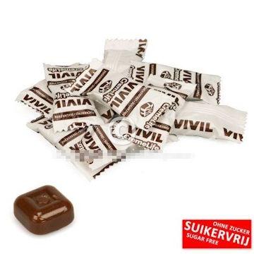 Vivil, Brasilitos babbelaar suikervrij koffie smaak  per 100 gram