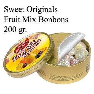 Blikje Fruit Mix Bonbons ( zuurtjes ) 200gr  per stuk