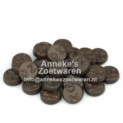 Dubbelzoute Rondjes ( hard )  per 100 gram