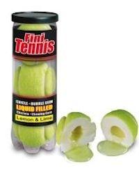 Kaugummi Tennisball im Hülse