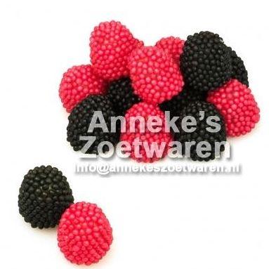 Frambozen & Bramen, Berries, Donkers  per 100 gram