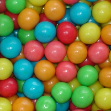Fun Gum Balls Mini met fruitsmaak  per 200 gram