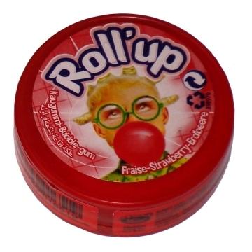 Roll'up gum, Aardbei  per stuk
