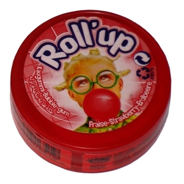 Roll'up gum, Aardbei