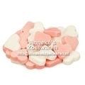 Mini Frucht Herzchen, rosa und weiß