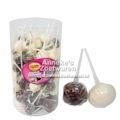 Altmodische weißen und braunen Zucker Knoten mit Schokoladen